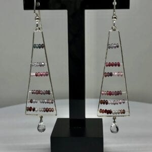 Multi colored spinel earrings